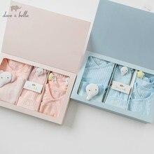 DBH9992 dave bella весна осень Новорожденные Мальчики Девочки ромперы для младенцев комплекты одежды детские хлопковые комбинезоны