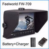 Feelworld FW 709 7 Inches IPS HD Screen On Camera Field Monitor 1024x600 Resolution For Sony