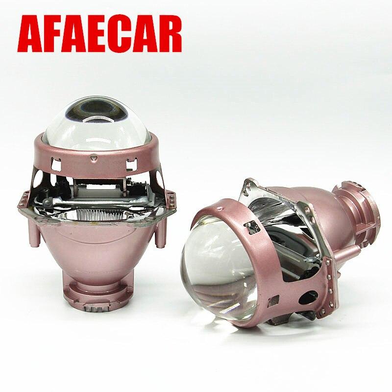 AFAECAR voiture style hid phare bi xénon lentille pour D1S D2S D3S D4S
