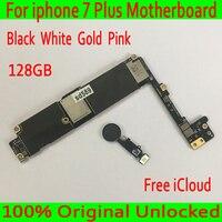 С бесплатной iCloud для iphone 7 Plus материнская плата 128 ГБ оригинальный разблокирован для iphone 7 P материнская плата с сенсорным ID бесплатная достав