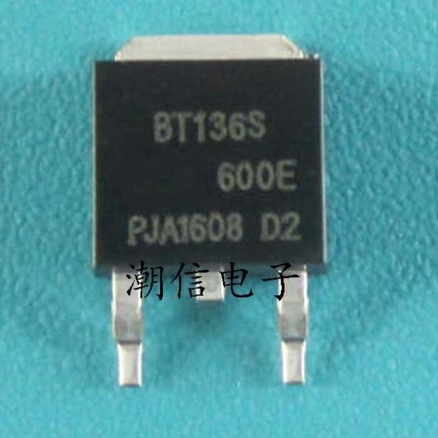 10pcs/lot BT136S-600E BT136 600E TO-252 SMD TRIAC New Original In Stock