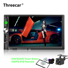 "2Din 7"" HD 1024*600 Bluetooth Car Radio MP5 Player with Mirror Link Radio Tuner Rear Camera Car Stereo MP5 Player Auto 7023D"