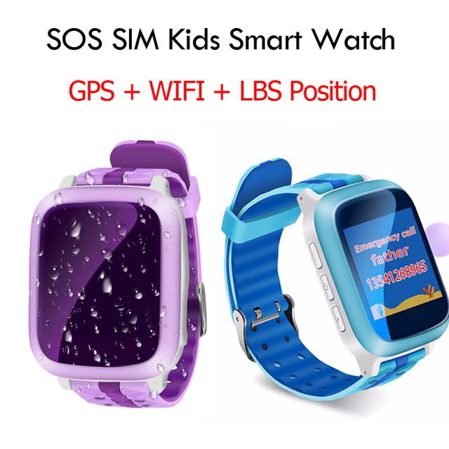 Rastreador gps smart watch wifi + gps + lbs crianças sos rastreador kid safe Anti Perdido Monitor relógios das crianças para o telefone pk Q50 Q60 Q90