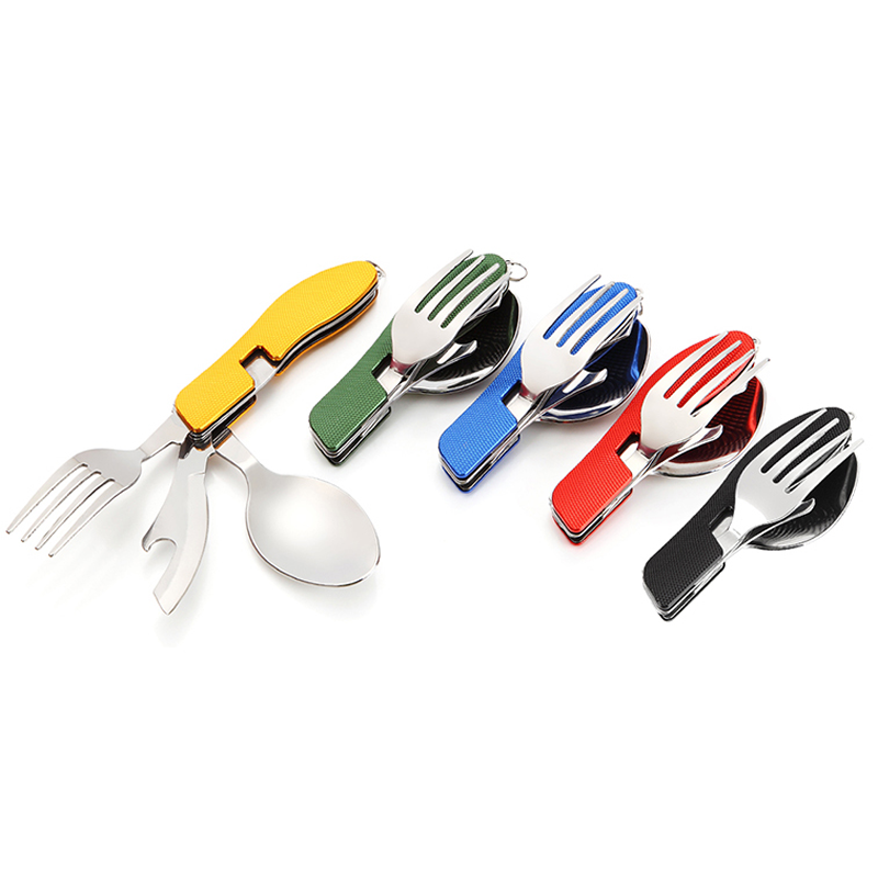 4 in 1Pocket Multi-function Outdoor C&ing Picnic Tableware Stainless Steel Cutlery Folding Spoon Fork Knife Bottle Opener  sc 1 st  Google Sites & ̿̿̿(\u2022̪ )4 in 1Pocket Multi-function Outdoor Camping Picnic Tableware ...
