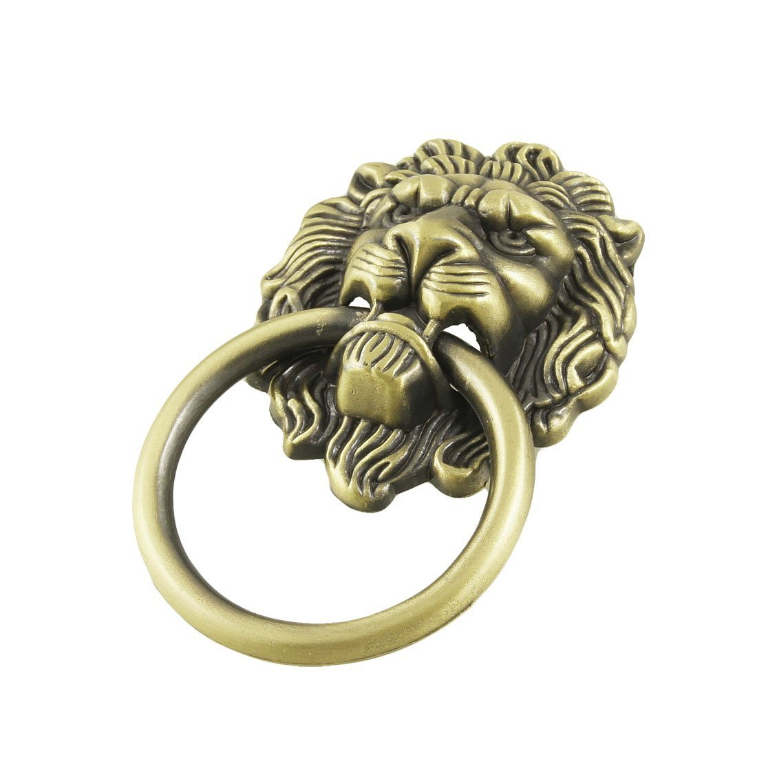 CSS  Antique Style Bronze Tone Lion Head Design Drawer Ring Pull Handle Knob ada instruments ruber x32