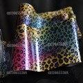 Transferencia Art Nail Foil Nail Sticker Decal Consejo Decoración Diseño DIY Azul Amarillo Rosa Color de La Mezcla de Leopardo GL119
