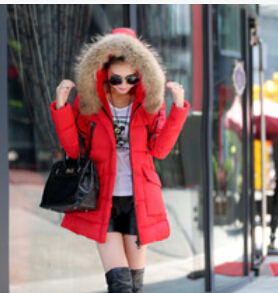 Бесплатная доставка зимнее хлопковое пальто код утолщенные длинные волосы воротник Тип Женский хлопок