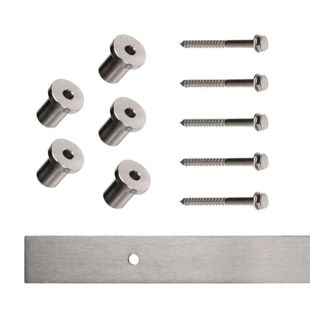 4 9FT 6FT 6 6FT Stainless Steel Brushed big hanger Sliding Barn door hardware in Doors from Home Improvement