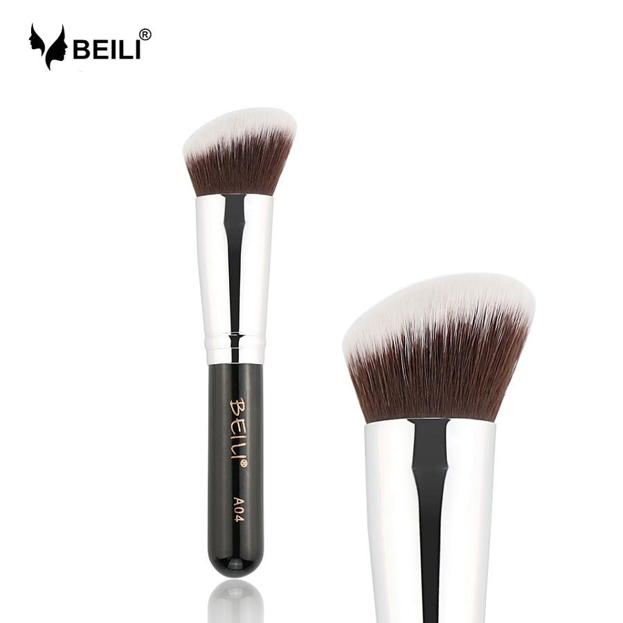 Furça përbërëse BEILI 1Pc Kabuki Soft Dende Gray Sintetike për - Grim