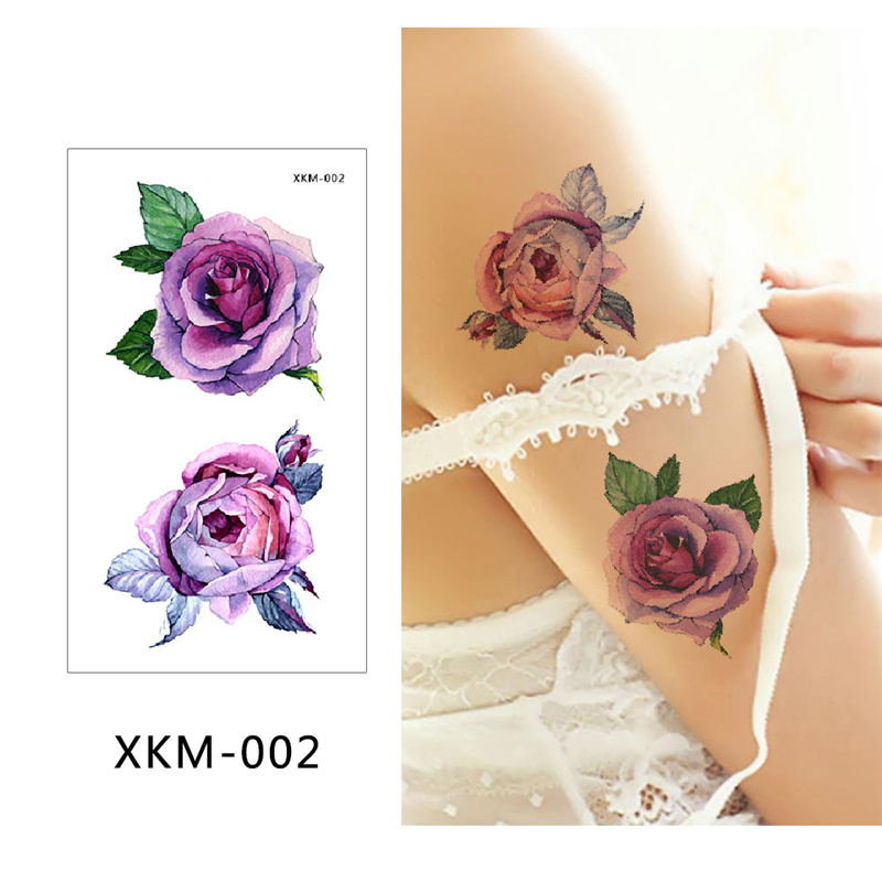 Dropwow Glaryyears New Designs 1 Piece Flower Body Tattoo Temporary