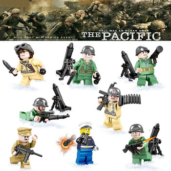 War World 2 The Pacific War Japan VS US Navy Small Army Military figure Model Building Block Toys SY614 Toys for Children Солдат