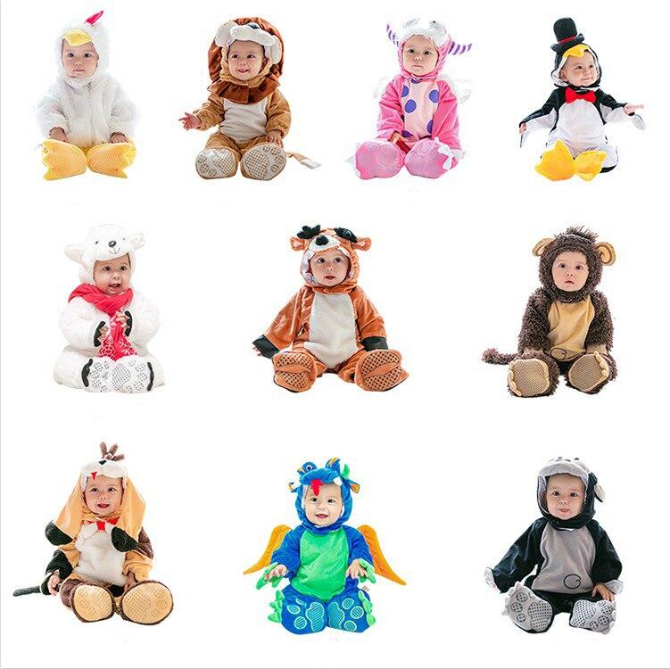 Bébé Halloween Costume citrouille unisexe bébé Onesies animaux Onesies enfants vêtements nouveau-né chien hiver salopette automne Cartoon