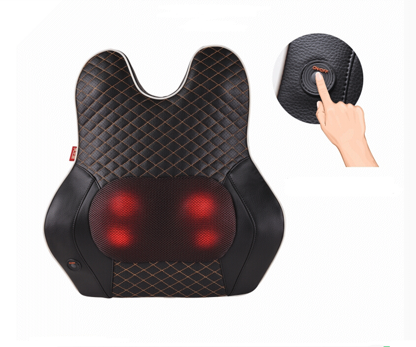 Multifunction Infrared back Body Health Care Equipment Car Home Acupuncture Kneading Neck Shoulder Cellulite Massager multifunction health care car home pillow massager acupuncture kneading neck shoulder massager darsonval anti cellulite