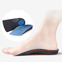 2016 New Camping Hiking Walking 1pair 3D Premium 3 4 Orthotic Insole Shoe Cushion Arch Support