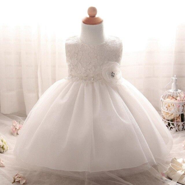 Bianco Principessa Abito Da Sposa abito di Battesimo Del Bambino Appena  Nato Vestiti Della Ragazza per 3bb6dd4c842