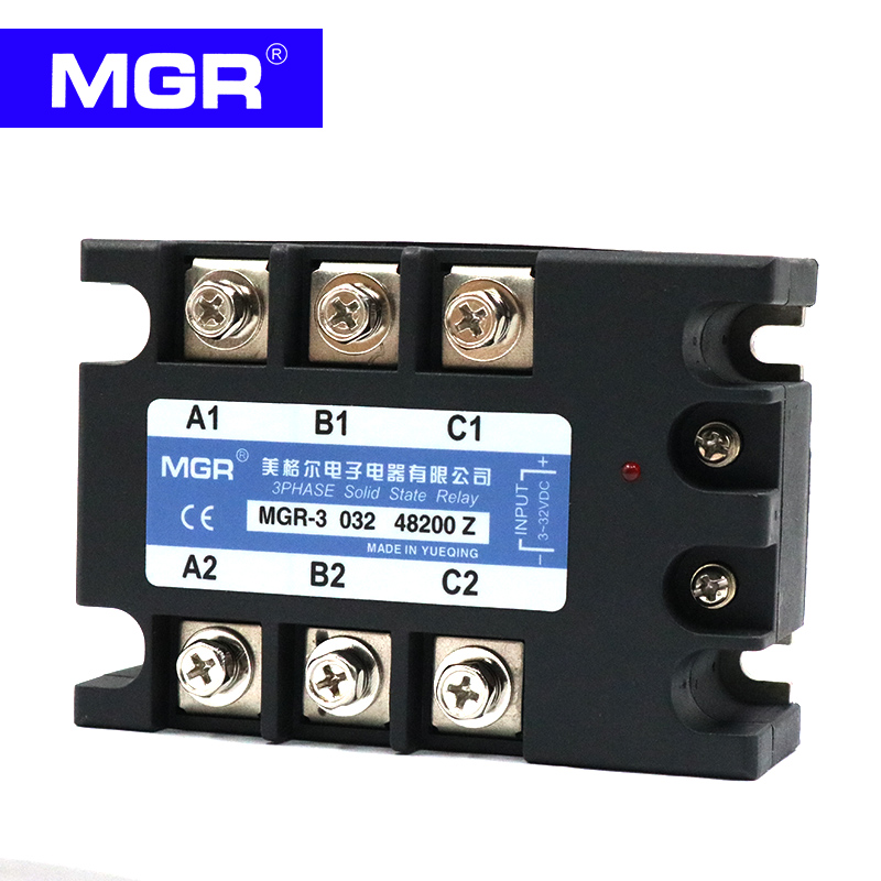 MGR Three-phase solid state relay DC control AC 380V 220A MGR-3-032-48200Z mager three phase solid state relay dc control ac mrssr 3 mgr 3 032 3890z 90a