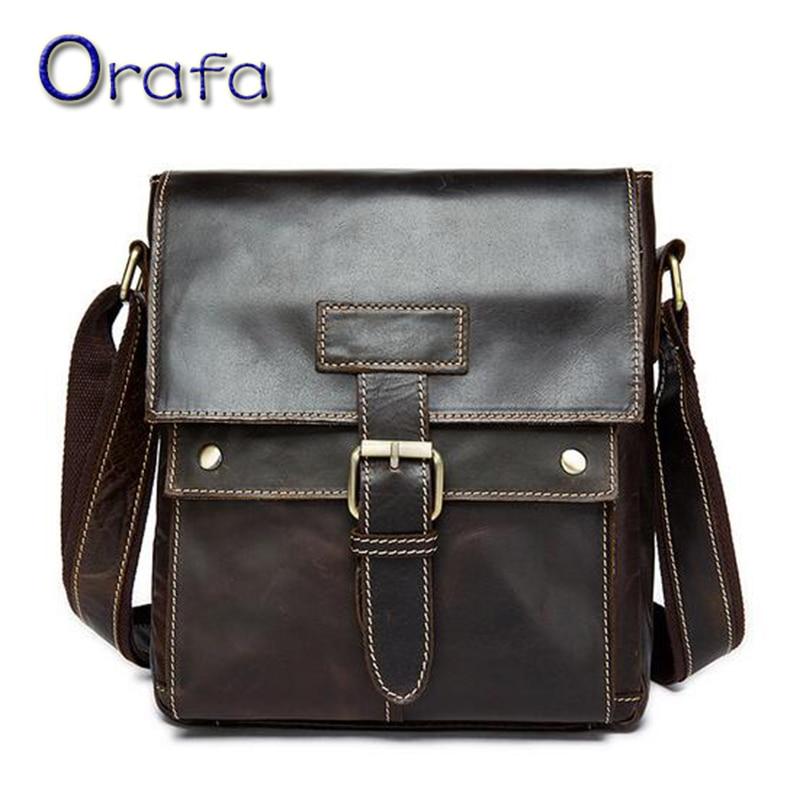 100% Genuine Leather Men Bags 2016 New Fashion Crossbody Handbag Hot Sale Shoulder Male Bag Small Messenger