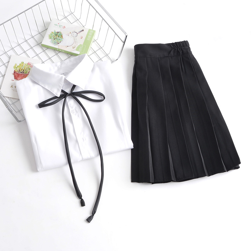 0c05d373b5 Uniformes escolares japoneses para niñas lindo largo de longitud Tops plisado  falda establece Cos JK serie