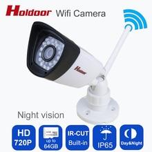 Wifi 720 p mini cámara de Bala A Prueba de agua Visión Nocturna de Seguridad Exterior cámara ONVIF P2P CCTV Cam con Ir-cut 64G TF tarjeta ranura