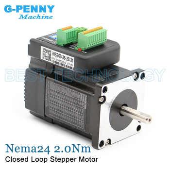 Nema24 Closed Loop Stepper motor 2.0Nm D=8mm 285Oz-in Nema 24 Hybrid Integrated Stepper Servo Motor with drive 60x65mm 5.0A 36v - DISCOUNT ITEM  12% OFF Home Improvement