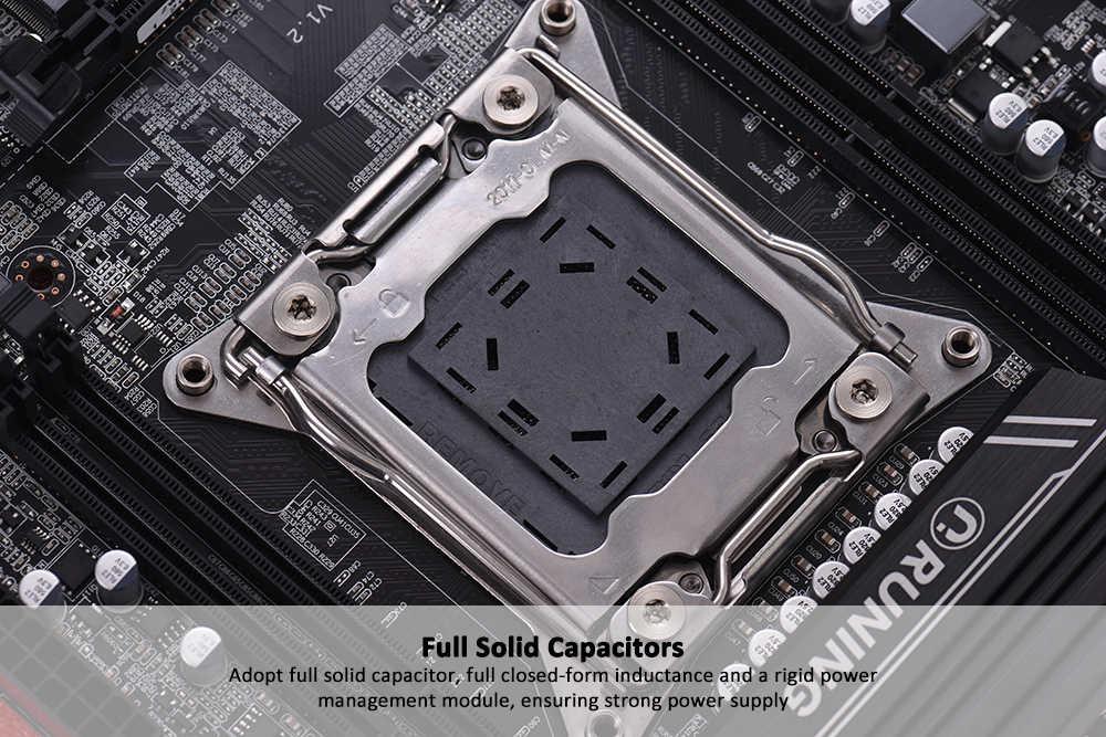 Placa base X99 V1.2 ATX LGA2011 SATA 3,0 puertos USB 3,0 placa base I7 serie/E5-V3/E5-V4 4 ranuras DIMM capacidad de memoria DDR4 64GB