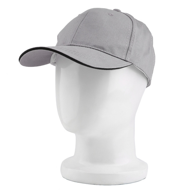 ab6031d38f846 Blank Curved Plain Baseball Cap Visor Hat Gppd Solid Color Adjustable with grey  white black khaki red color 2016 Hot Sale
