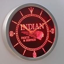 nc0181 Motorcycle Parts Service Neon Sign LED Wall Clock