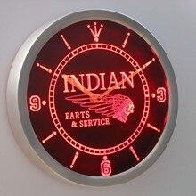 nc0181 Motorcycle Parts Service Neon Sign LED font b Wall b font font b Clock b