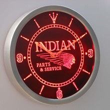 nc0181 Motorcycle Parts & Service Neon Sign LED Wall Clock
