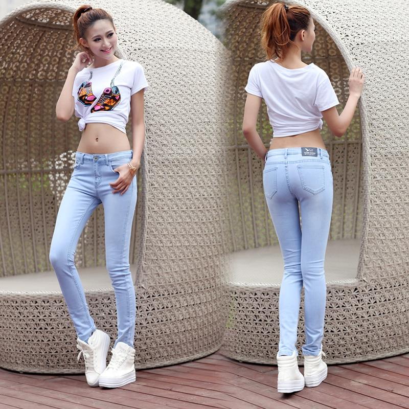 Aliexpress.com : Buy New Fashion 2015 Women's jeans mid waist ...