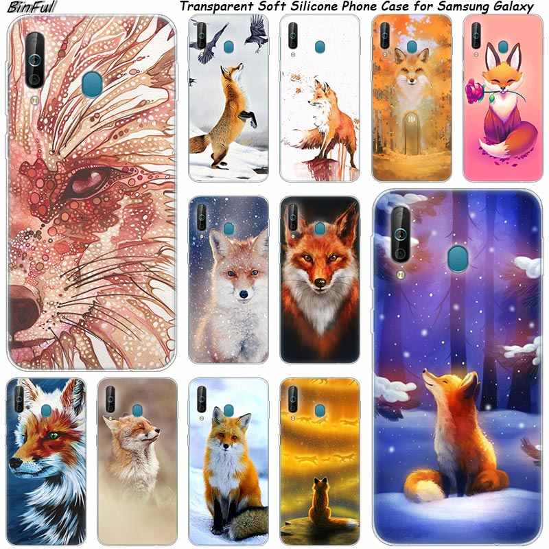 Hewan Fox Silikon Phone Case untuk Samsung Galaxy A80 A70 A60 A50 A40 A40S A30 A20E A2CORE M40 Catatan 10 plus 9 8 5 Fashion Cover