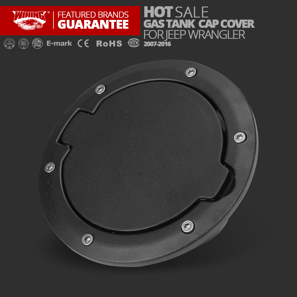 Free shipping 1pc Fuel Filler Cover Gas Tank Cap 2/4 Door For Jeep Wrangler JK 07-16 Exterior Tank Covers Auto Replacement 2017