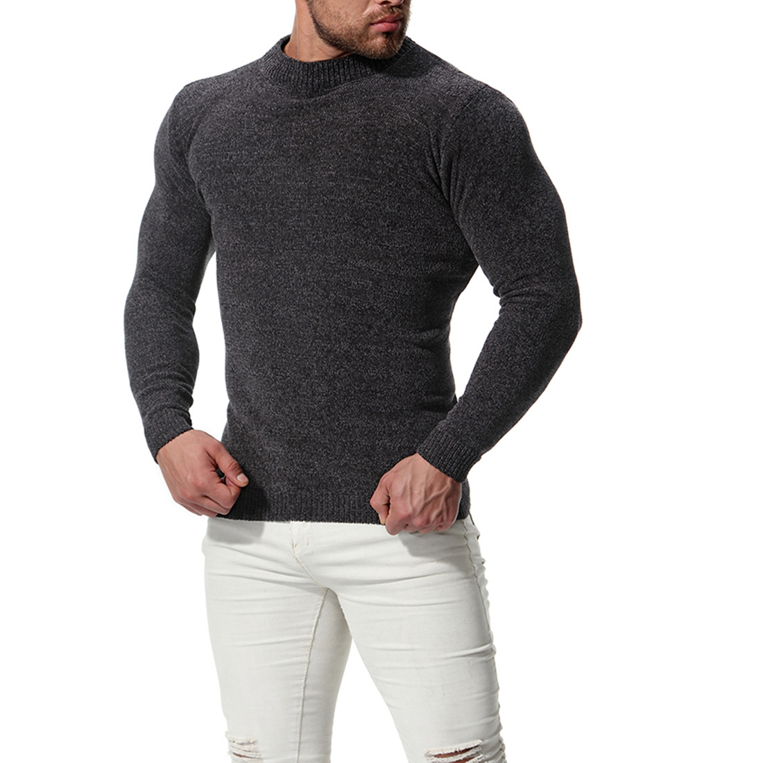 mens sweaters and pullovers 2018 winter long sleeve sweater for men good quality men knitted sweater in Pullovers from Men 39 s Clothing