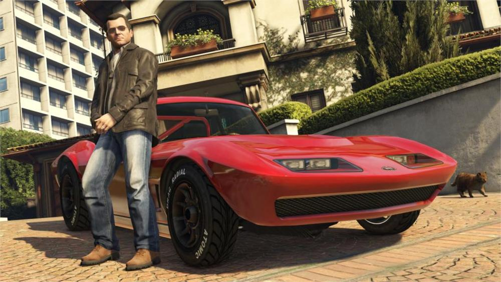 Game Grand Theft Auto 5 gta Michael house car Los Santos 4 Sizes Silk Fabric Canvas Poster Print