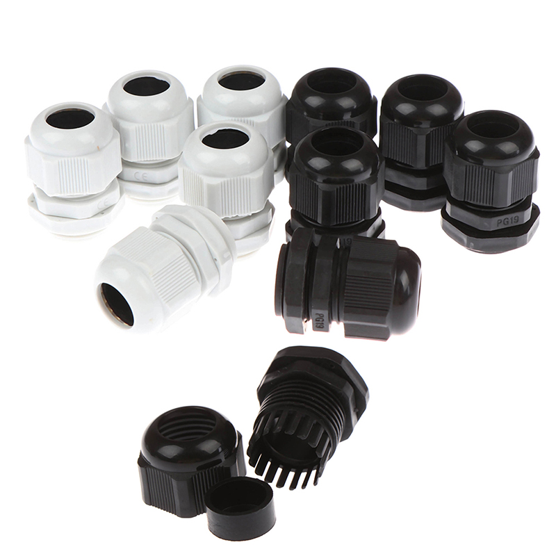 uxcell 12pcs PG9 Thread 2-6mm Dia Wire Strain Relief Spiral Cable Gland
