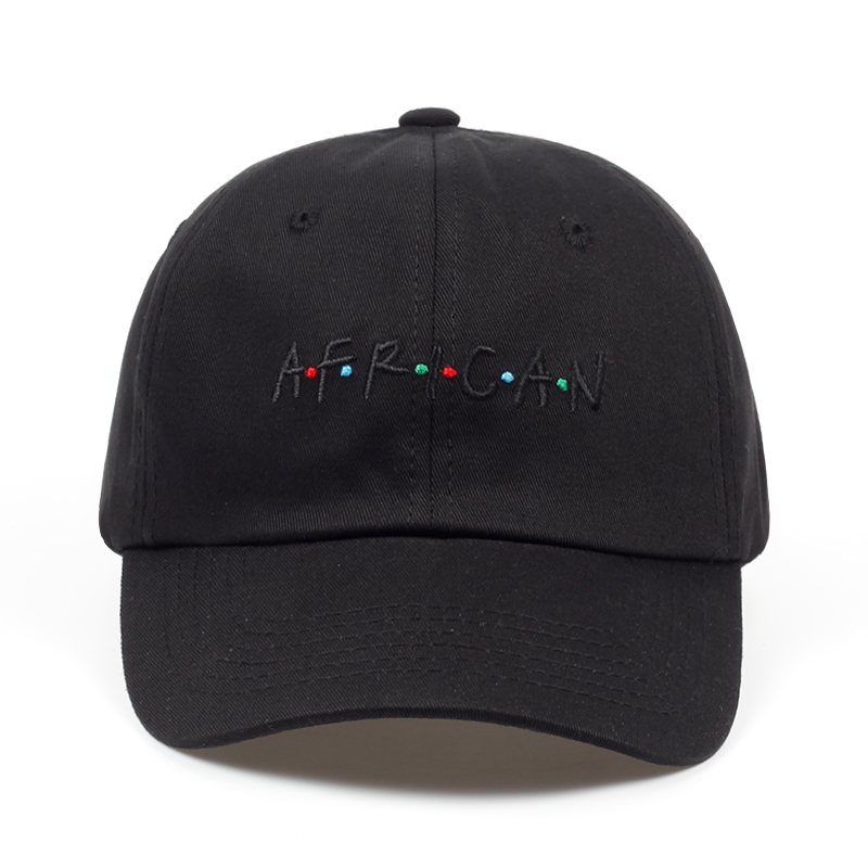 2018 new arrival AFRICAN letter embroidery baseball cap women snapback hat adjustable men fashion Dad hats wholesale