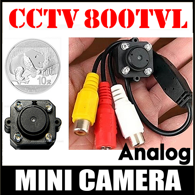 Very Mini 1 / 4cmos 700tvl Hd micro camera Audio Mic 4 stks Led infrarood Nachtzicht AV Joint kleine beveiliging surveillance vidicon
