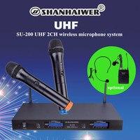High Sensitive uhf wireless handheld microphone for karaoke latest outdoor stage show family KTV handheld singing megaphone