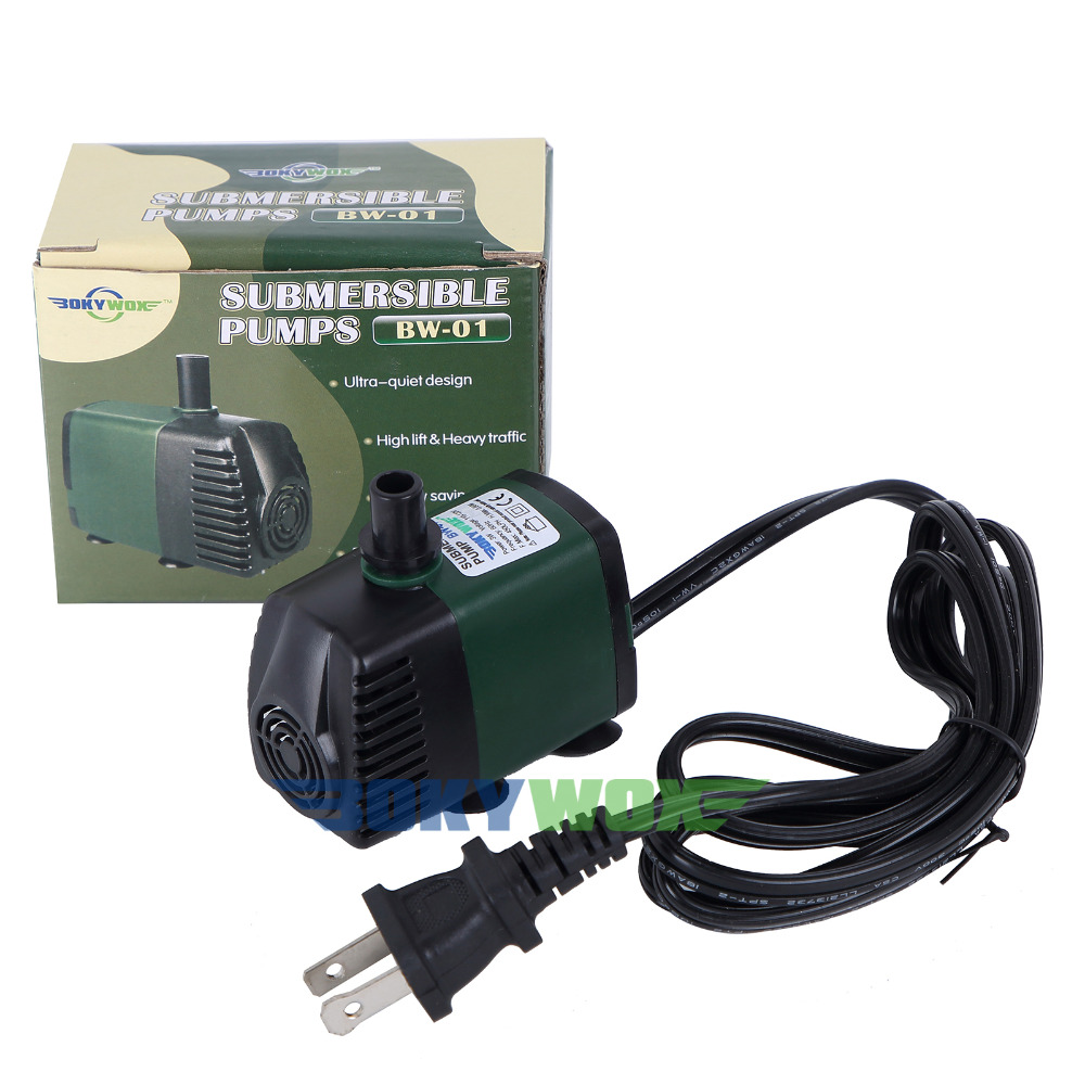 <font><b>110V</b></font>,450LPH Submersible <font><b>Pump</b></font> Aquarium Pond Fountain <font><b>Water</b></font> Fall Hydroponic US Standard image