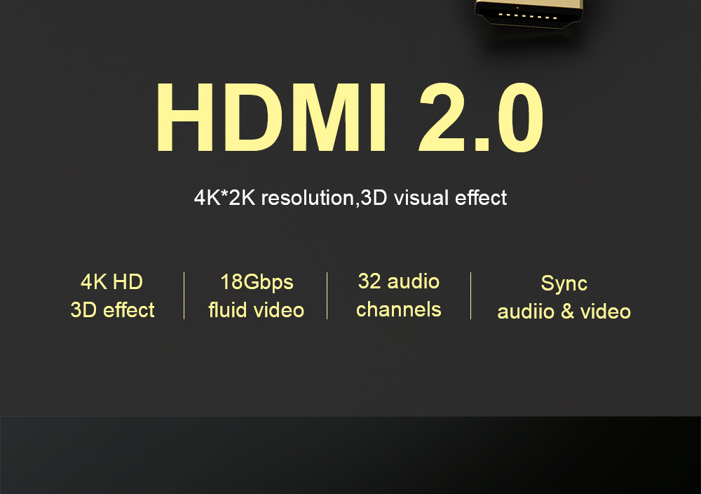 HTB1.KO8pnXYBeNkHFrdq6AiuVXaO QGEEM HDMI Cable HDMI to HDMI 2.0 Cable 4K for Xiaomi Projector Nintend Switch PS4 Television TVBox xbox 360 1m 2m 5m Cable HDMI