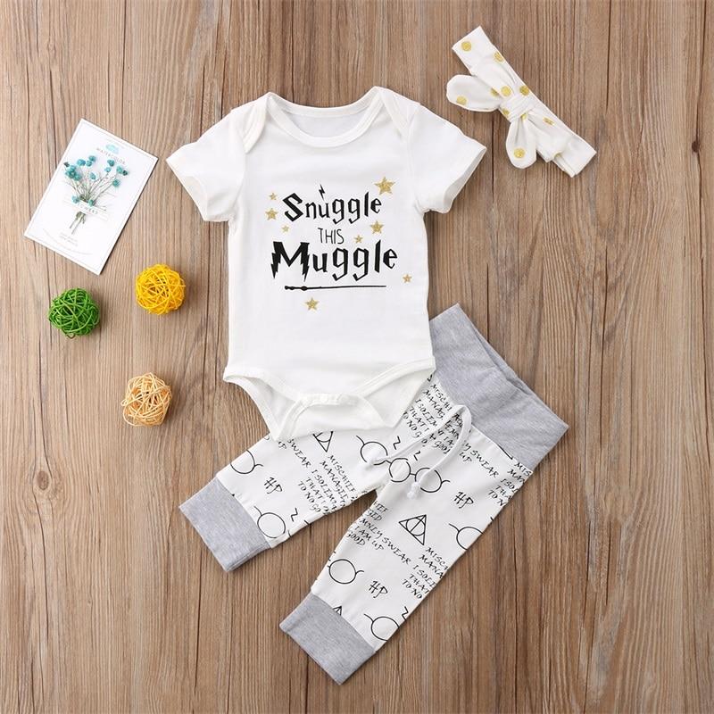 54892e094 Newborn Baby Boys Girls Clothing 2019 Summer Snuggle This MuggleTops ...