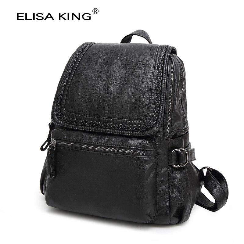 marca feminina mochila preta 2017 Tipo de Estampa : Sólida