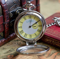 Free Shipping Retro Style Antique Bronze Big Mechanical Pocket Watch Hot Sale