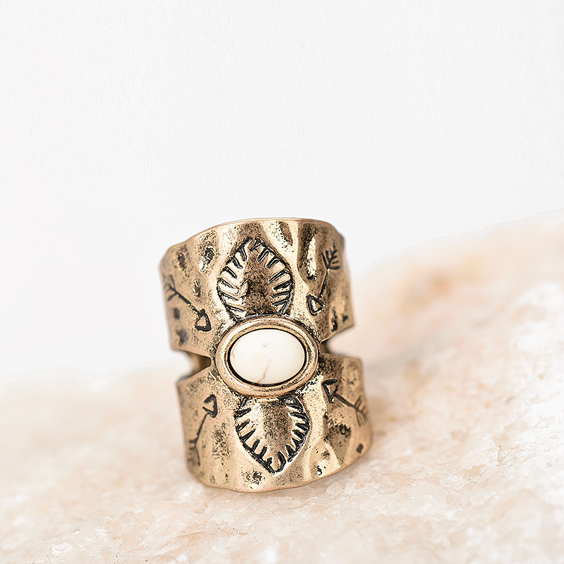Qadın Vintage Knuckle Barmaq Üzük Qədim Gümüş Qızıl Geniş - Moda zərgərlik - Fotoqrafiya 4