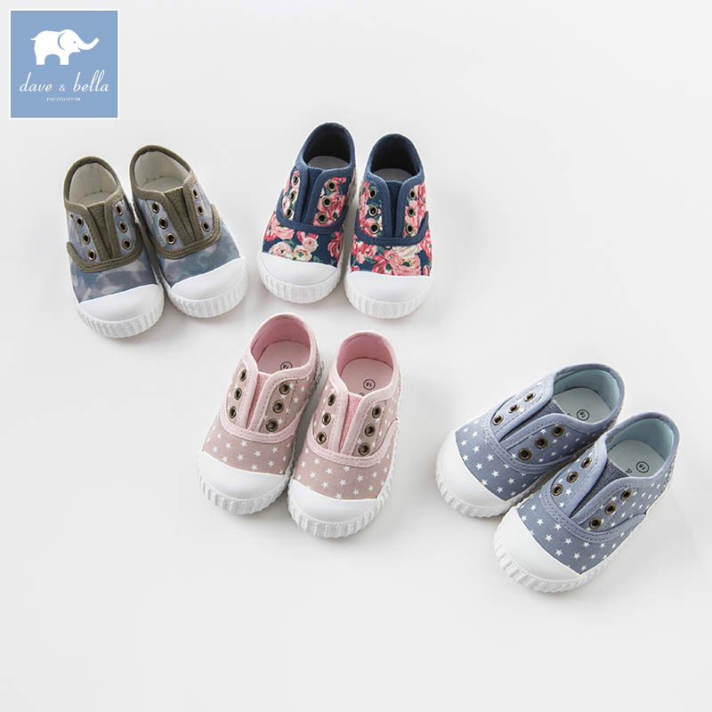 DB6514 Dave Bella spring baby boy girl kids canvas shoes brand shoes