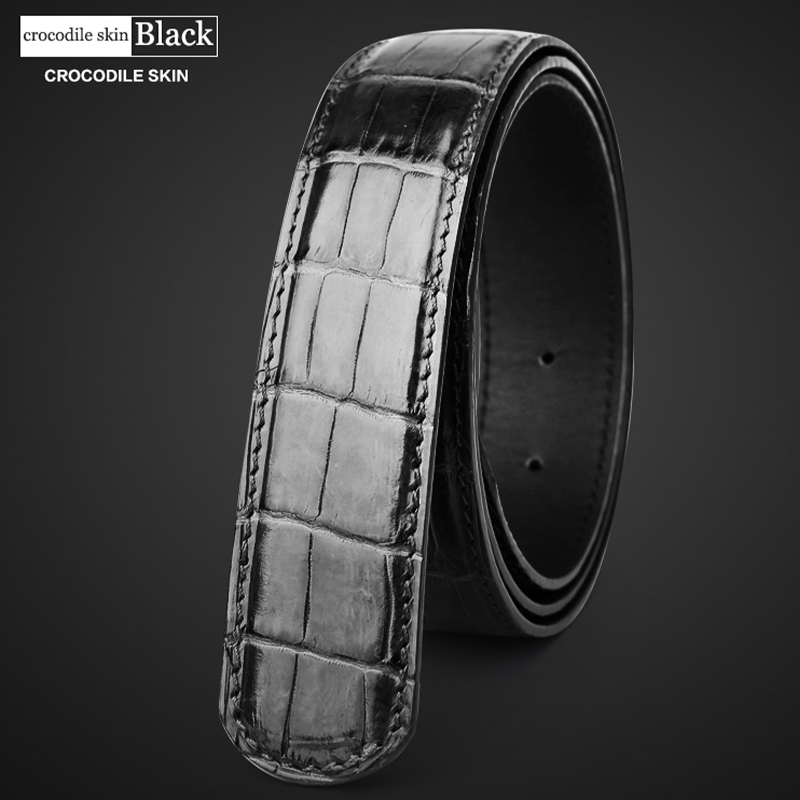 Image 4 - male belt without buckle mens genuine leather belt men luxury strap belts for men high quality crocodile belts mens leather 6350-in Men's Belts from Apparel Accessories
