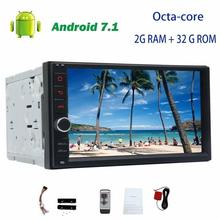 "Android 7.1 Octa-core Headunit no dvd 7"" 2din GPS Navigation Car radio Stereo Autoradio support Wifi 3G/4g OBD FM AM RDS camera"