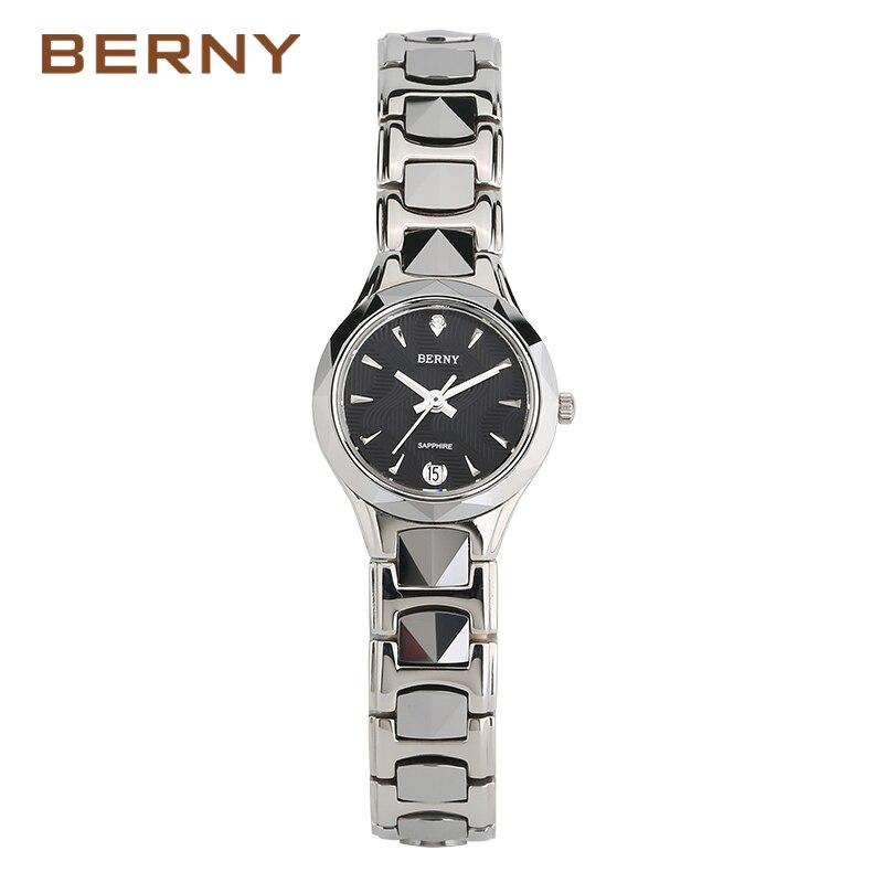 Berny Frauen Uhr Quarz Dame Uhren Mode Top Marke Luxus Relogio Saat Montre Horloge Feminino Bajan Femme JAPAN BEWEGUNG-in Damenuhren aus Uhren bei  Gruppe 1