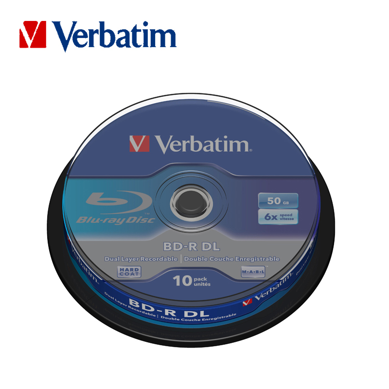 Verbatim 6X Blu ray BD R DL 50GB Blank Disc Recordable Media Unprintable Lots Blue Ray