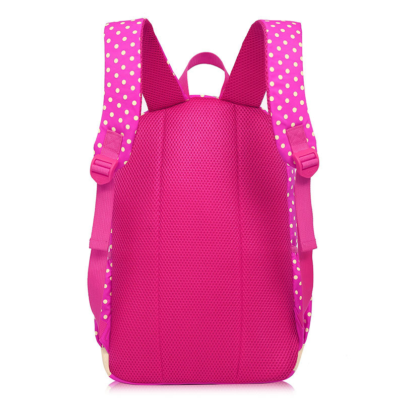 Mochilas escolares para chicas adolescentes, mochila de gran capacidad, conjunto de mochila escolar con estampado de puntos, mochila, mochilas, lindas bolsas para libros